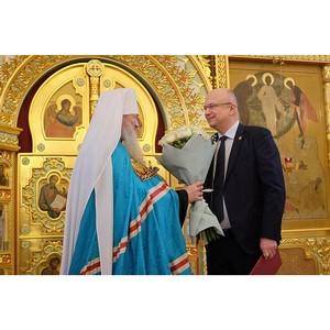 Андрей Плитко поздравил митрополита Марка с Днем тезоименитства