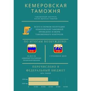 Более 40 млн руб. перечислила Кемеровская таможня в федеральный бюджет