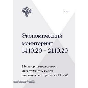 Экономический мониторинг. 14 – 21 октября 2020 года