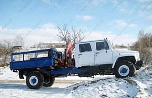 Кран-манипулятор ГАЗ-33081 ЕГЕРЬ-2, бортовой автомобиль с двухрядной кабиной и гидроманипулятором Ferrari 540 A1