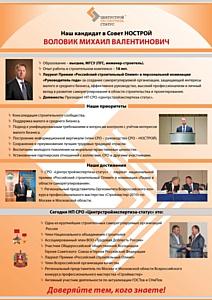 Михаил Воловик - кандидат в члены Совета НОСТРОЙ