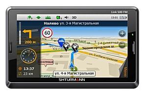 SHTURMANN представляет GPS-навигатор Link 500 FM