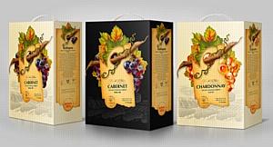 Дизайн-студией 13 разработан дизайн винной упаковки Bag-in-box