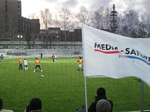 Сотрудники Media-Markt-Saturn Rus играют в футбол