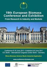 Девятнадцатая конференция и выставка по биомассе пройдет с 6 по 10 июня 2011 года в Берлине, Германия