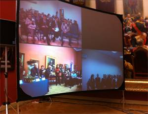 Видеомост из Русского музея соединил участников конкурса «Защитники Отечества в русском изобразительном искусстве»