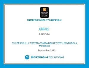 Программное обеспечение от компании «ЭРФИД» для мобильного RFID-считывателя Motorola MC9090 получило статус Motorola Compatible