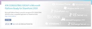 Консультационная Группа АТК получила статус Microsoft Platform Ready для приложений SharePoint 2010