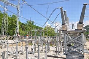 МЭС Юга завершили монтаж элегазовых выключателей 110 кВ на открытом распределительном устройстве 110 кВ на подстанции 220 кВ Дагомыс