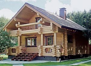 Деревянные дома из оцилиндрованного бревна - лучшие цены от СтройРиэлтиГрупп!