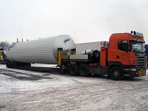 AsstrA осуществила негабаритную перевозку асфальтного завода