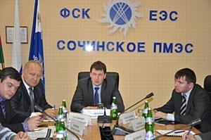 Заместитель Председателя Правления ОАО «ФСК ЕЭС» Дмитрий Гвоздев провел совещание по вопросу готовности к проведению тестовых соревнований по 9 зимним олимпийским видам спорта 2012 года