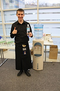 Вода «Легенда Гор» компании «Аквалайн» была представлена на Российском Чемпионате кофейных мастеров