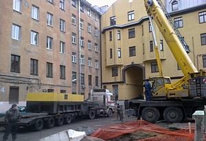 """Компания """"СпецБалтТранс"""" в рамках городского энергетического проекта выполнила перевозку трансформаторных подстанций"""