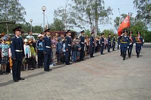 Воронежские энергетики приняли эстафету Знамени Победы