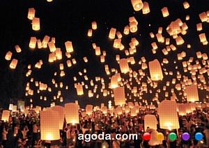 Agoda.ru празднует Лой Кратонг – «фестиваль огоньков» в Таиланде