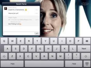 ������� ����� ������ ������ Skype, ���������������� ��� iPad