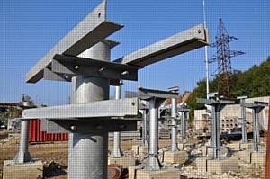 МЭС Юга приступили к монтажу трансформаторов тока на открытом распределительном устройстве 110 кВ подстанции 110 кВ Изумрудная