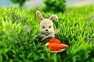 Очаровательный кролик Bone Rabbit