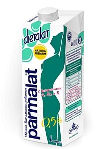 Классическая линейка молока Пармалат в новой упаковке