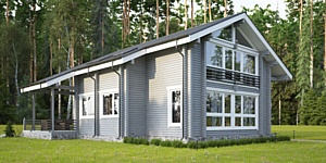 Good Wood представляет дом из клееного бруса с применением элементов фахверковой технологии -СП-265
