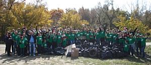10-й экологический сезон «Зелёные Команды» Coca-Cola Hellenic на территории Волго-Ахтубинской поймы