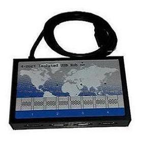 Изолированный 4-х портовый концентратор USB (hub)