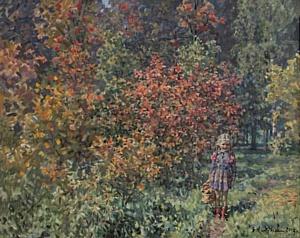 Выставка  художника Бориса Николаева «Цветы в лесу» открылась 8 августа в Арт-клубе «Книги и Кофе»