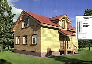 Дом из клееного бруса. Утеплённый. Энергоэффективный.