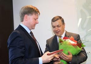 Руководители Новосибирского Муниципального банка удостоены наград в честь юбилея города