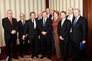 О. Банцекина, глава представительства Coleman Services, на встрече с Главой Еврокомиссии Ж. Баррозу