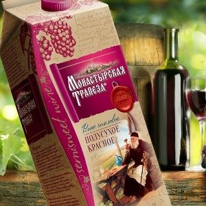 Soldis разработал дизайн упаковки вина «Монастырская Трапеза»