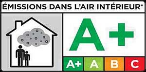 Французский экологический знак на потолках Черутти СТ