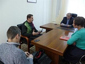 Ю.В. Калашников провел личный прием граждан в Приемной Президента РФ в Алтайском крае