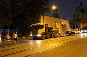 На подстанцию 110/10 кВ «Никитская» в Москве доставлен новый автотрансформатор