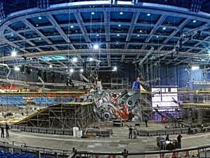 Трехуровневая конструкция для фестиваля экстрима «Прорыв 2013»