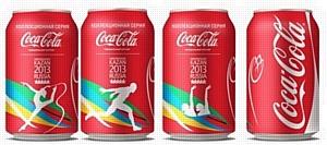 Новые коллекционные банки Coca-Cola с символикой XXVII Всемирной летней Универсиады 2013 года