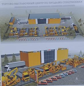 В Новосибирске началось строительство дилерского центра  для спецтехники класса 4S