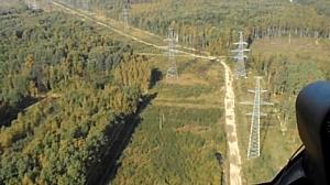 МЭС Северо-Запада обследуют более 3 тыс. км линий электропередачи при помощи вертолетной техники