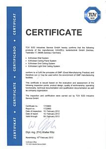 «Чистые помещения» РОСНАНОКЛИМАТ прошли сертификацию TUV GMP в Германии