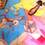 Художник Артем Тенигин представил картины с геометрическим уклоном
