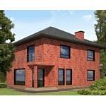 Вентилируемый фасад в стиле клинкерного кирпича