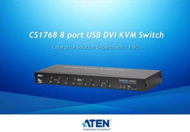 Акция Aten eShop Russia: при покупке USB DVI KVM CS1768 + 6 DVI KVM кабелей подарок