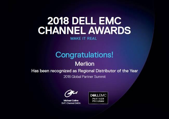 Компания Merlion удостоена награды Dell EMC «Региональный дистрибьютор года»