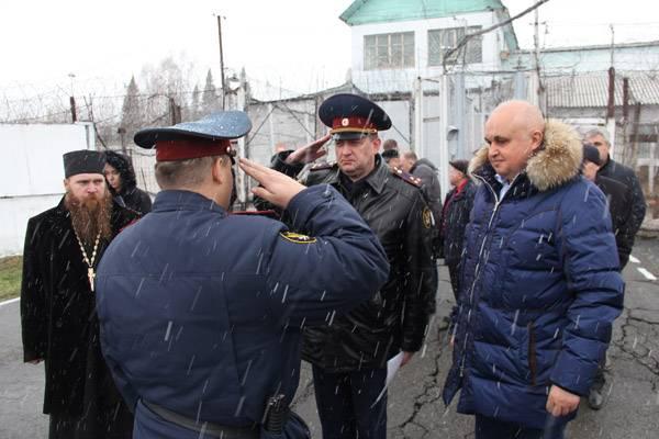 Врио губернатора Кемеровской области Сергей Цивилев посетил исправительную колонию №4 в пгт Шерегеш