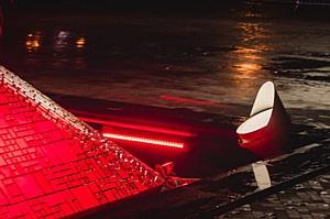 Эмоциональное освещение от IntiLED: статуя гладиатора перед стадионом «Открытие Арена»