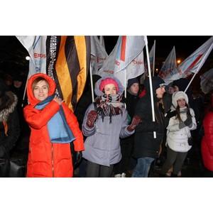 Воронежские активисты ОНФ приняли участие в митинге-концерте в честь воссоединения Крыма и России