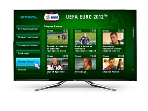 LG первой на российском рынке запускает приложение «Sportbox.ru: EURO-2012»