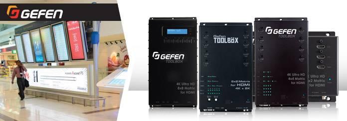 Компактные многофункциональные матричные коммутаторы UHD Gefen GTB-HD4K2K