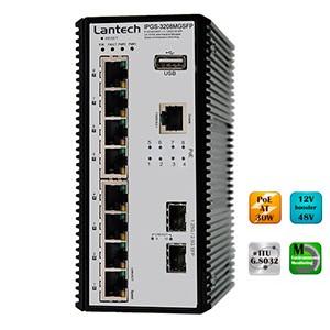 Новинка Lantech — малогабаритный коммутатор с IP30, 8 PoE портами и работой при -40 — +75°С